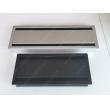 Soft closing aluminum desk grommet